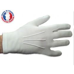 Gants blancs de Cérémonie en coton Suédé