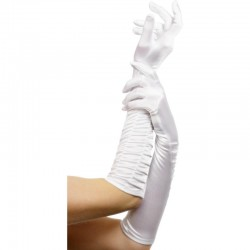 Gants blancs longs 43cm
