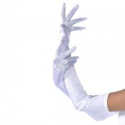 Gants blancs longs 58cm