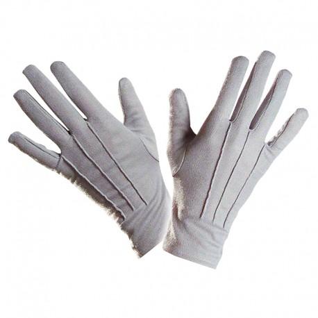 Gants en polyester gris pour adultes