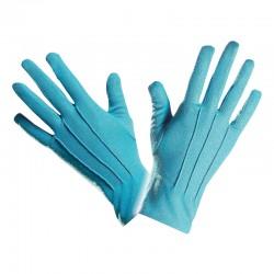 Gants en polyester bleu pour adultes