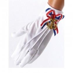 Gants de marin blancs 22cm