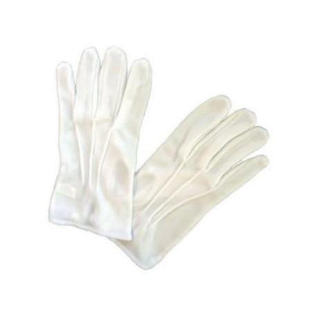 Gants blancs avec nervures