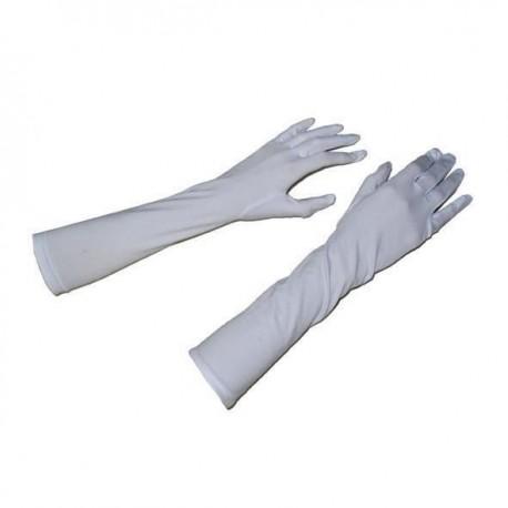 Gants blancs longs 41 cm