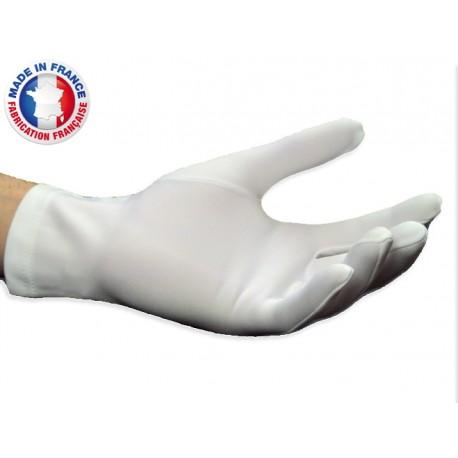 Gants blancs de parade où de cérémonie texturé, lourd