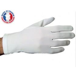 Gants blancs de cérémonie en nylon lourd