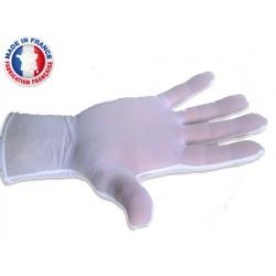 Gants blancs de manipulation en polyamide élasthanne