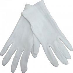 Gants blancs polyester