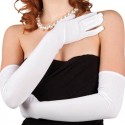 Gants blancs longs Stretch - Femmes