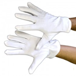 Gants blancs polyester petite taille