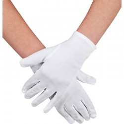 Gants blancs adulte polyester