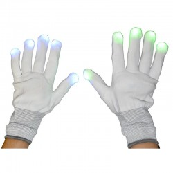 Gants blancs à LED rythme variable